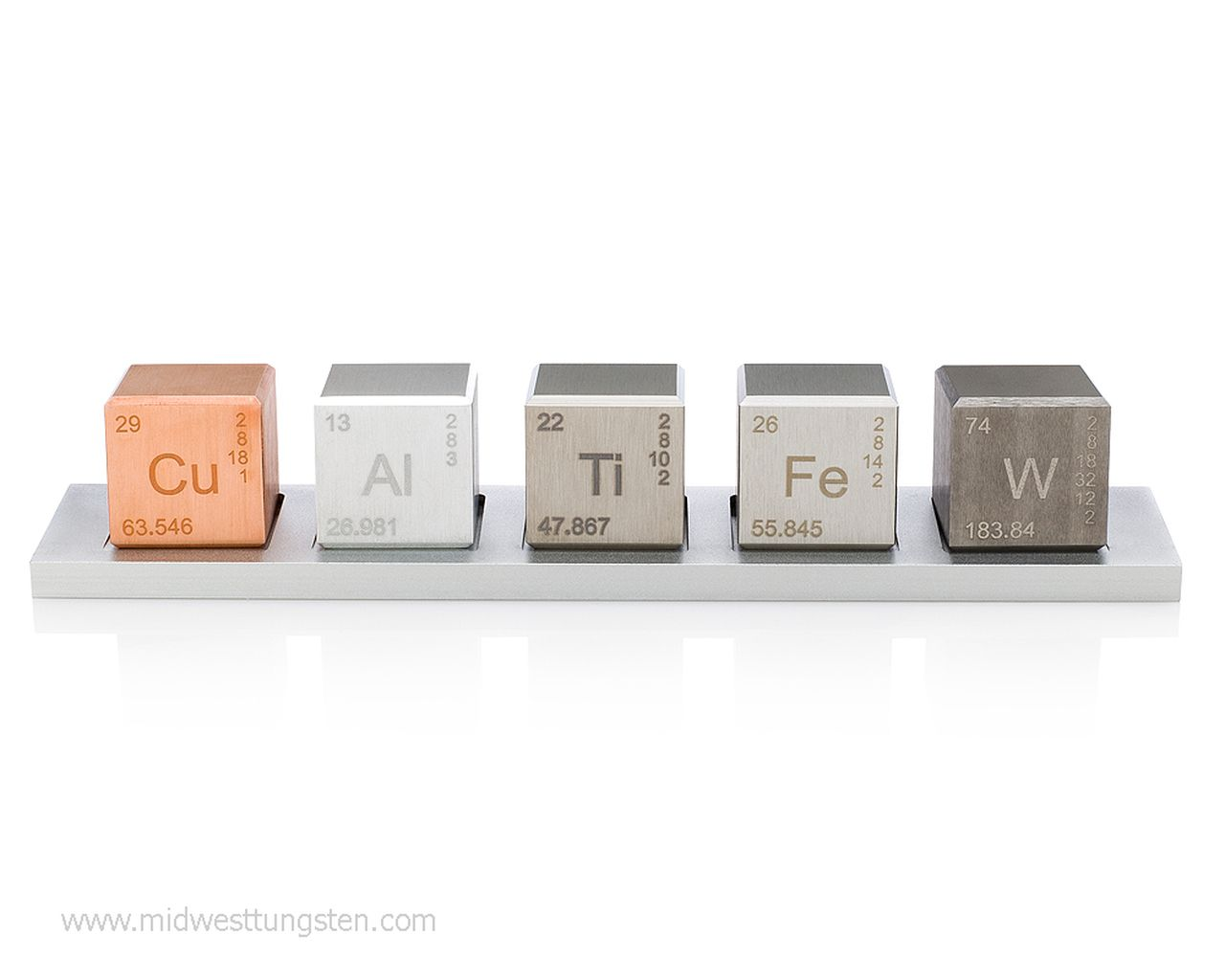 1 Element Cube Density Set Midwest Tungsten Service Tungsten Iron Gifts Pure Products