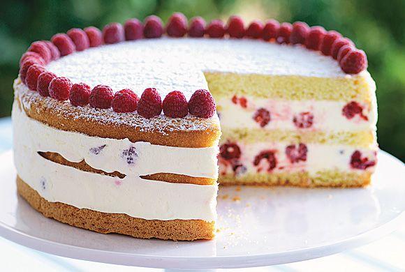 Italian Lemon Sponge Cake With Lemon Mascarpone Filling