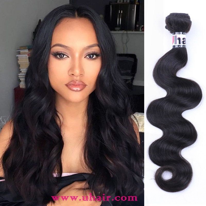 Virgin Malaysian Hair Body Wave 4pcs With 360 Lace Frontal 100