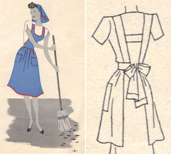 Pattern for the apron style I want. Now if I could sew I\'d make 20 ...