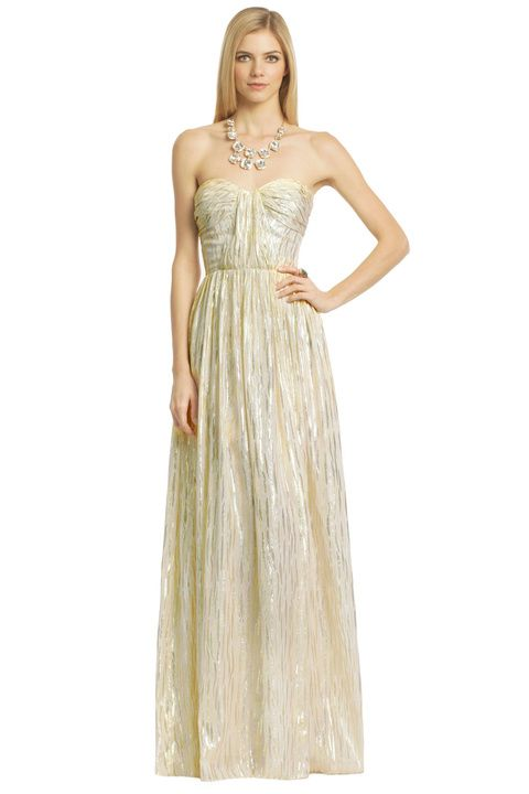 Metallic Drizzle Gown | Dress images and Wedding