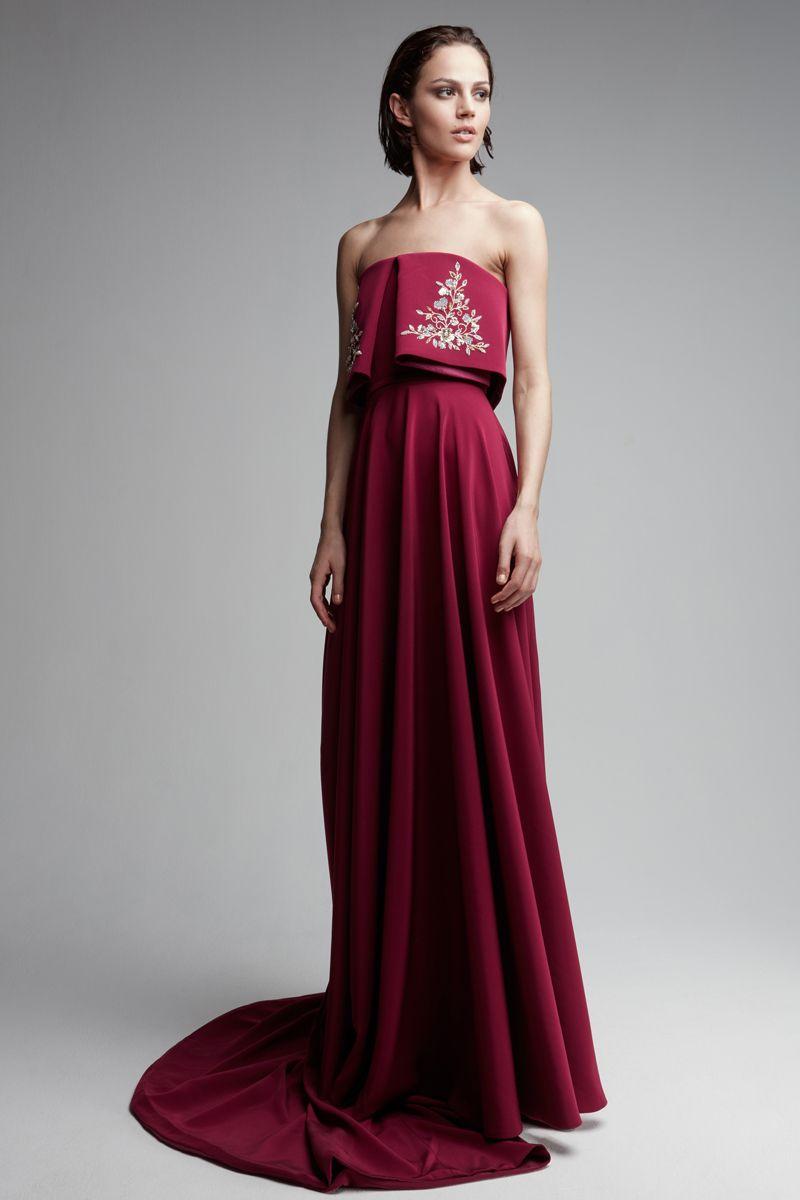 Elegant fashion aline splitfront evening dress great website for