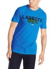 3b057fcdcbff68 Lacoste Men s Short Sleeve Regular Fit Croc Graphic Tee Shirt ...
