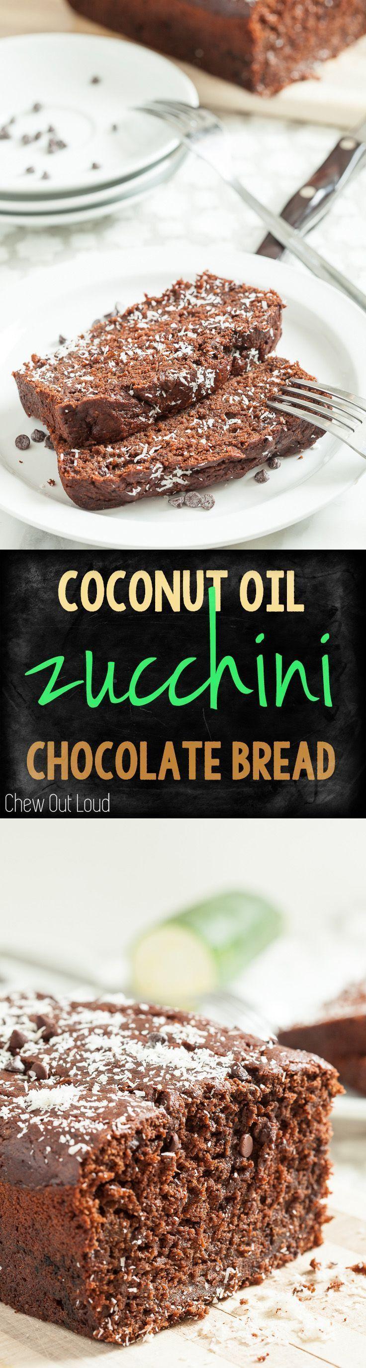 Chocolate zucchini coconut oil bread chew out loud