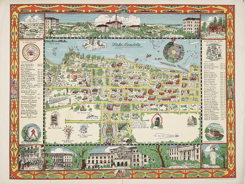 Uw Madison Campus Map campus_1937. (1500×1124) (With images) | Campus map, Map, Uw