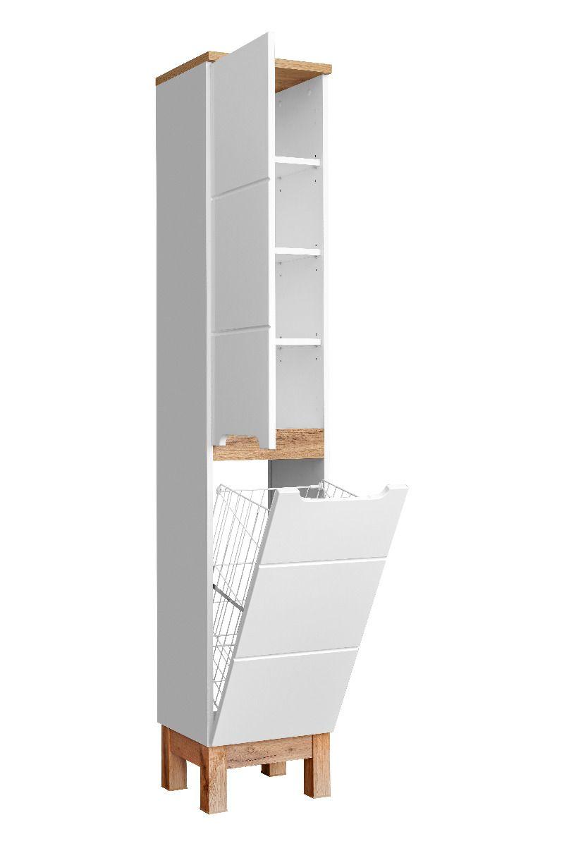 Szafka Lazienkowa Bali 35 Cm Biala Slupek Z Koszem Comad Sklep Z Meblami Mirat Tall Cabinet Storage Home Decor Furniture