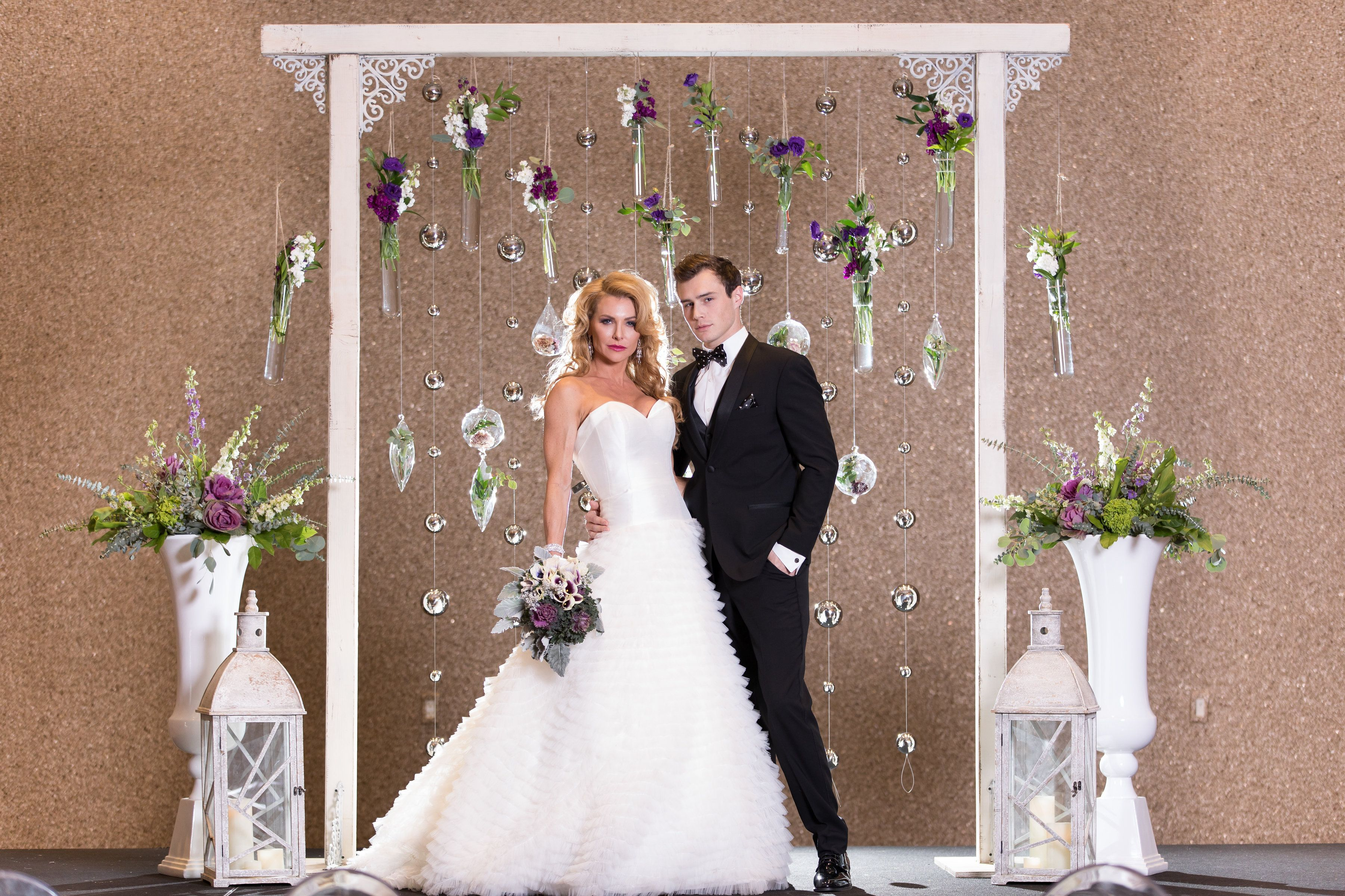 Sensfun 10x6.5ft Wedding Ceremony Photo Booth Backdrops Bridal Shower Arch White Curtain Rose Flower Decor Photography Background Flowers Petal on Sand Beach Photo Studio Props WP022//10x6.5ft