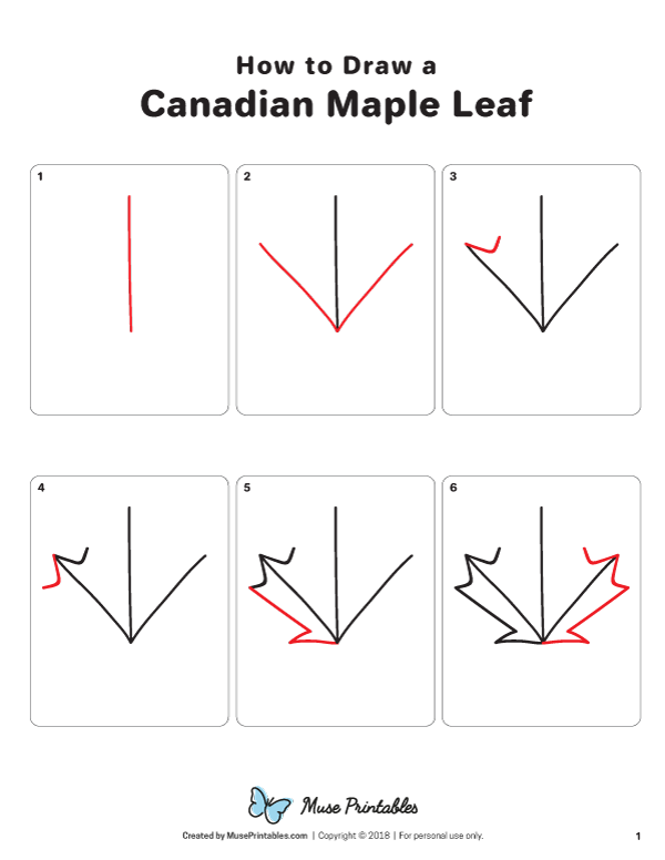 Learn How To Draw A Canadian Maple Leaf Step By Step Download A Printable Version Of This Tutorial At Ht Canadian Maple Leaf Maple Leaf Art Maple Leaf Drawing