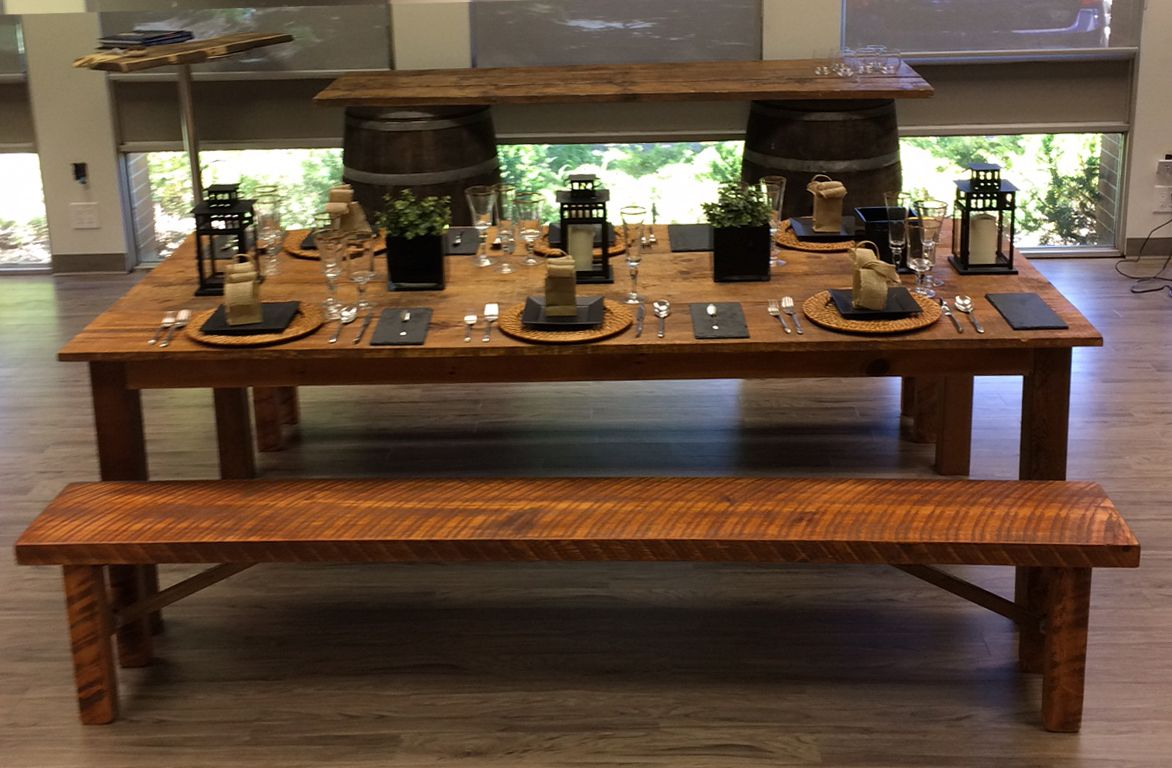 Higgins Rents Harvest Tables Harvest Benches Patio Bar Stools Dining Harvest Table