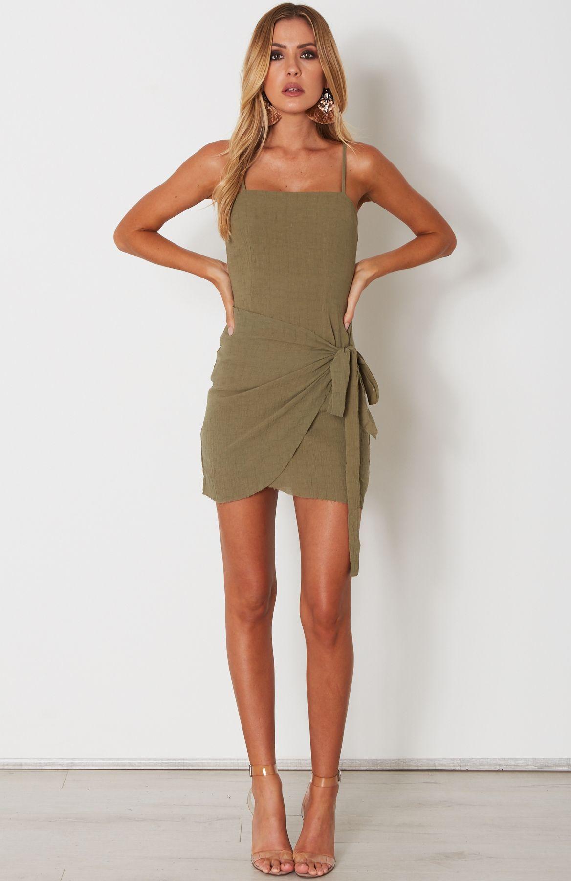 e3076b181247 Fake Love Mini Dress Khaki Fake Love