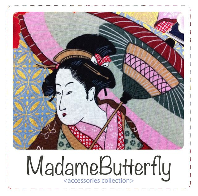 Madame Butterfly... accessories collection #japanese #fabric