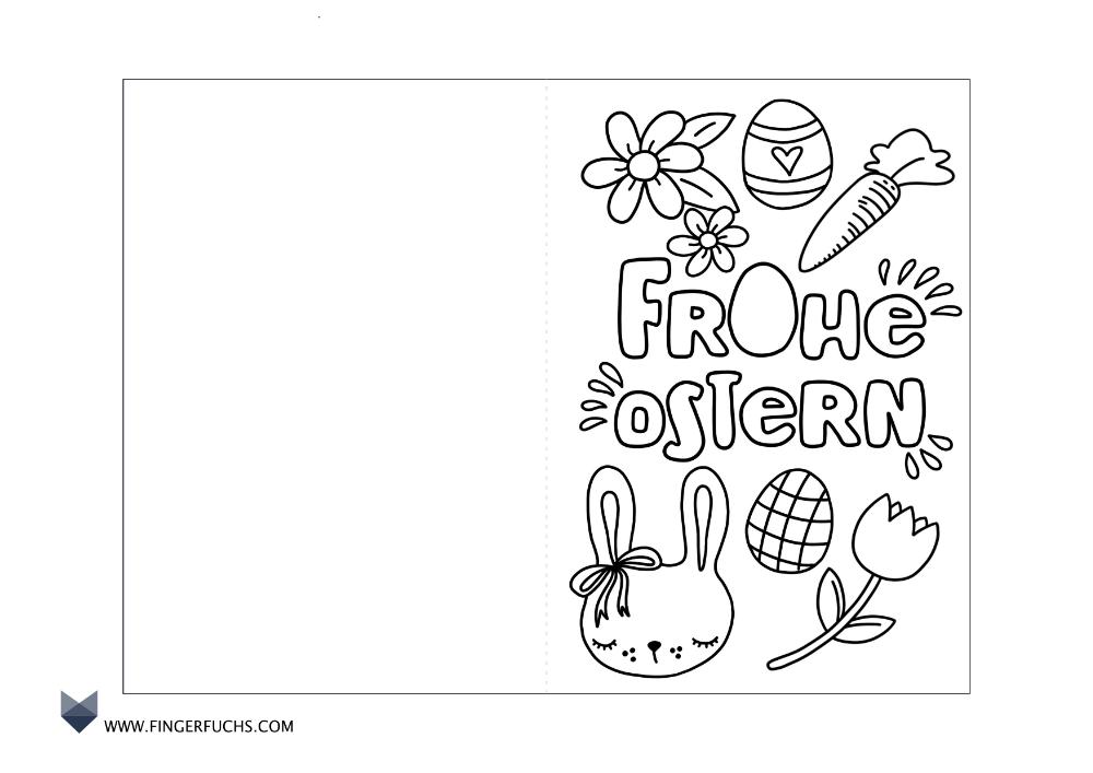 Karte Fur Ostern Zum Ausmalen Basteln Mit Kindern An Ostern Ostern Zum Ausmalen Karten Basteln Vorlagen Ostern Basteln Mit Kindern