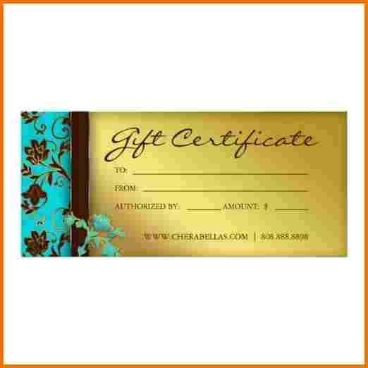 salon certificate template certificates spa gold floral gift word