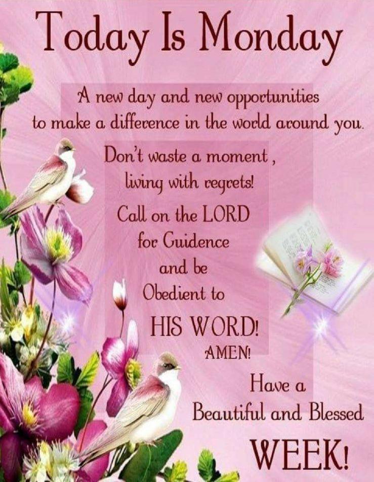 Monday Spiritual Quotes Welkombijdeheeren