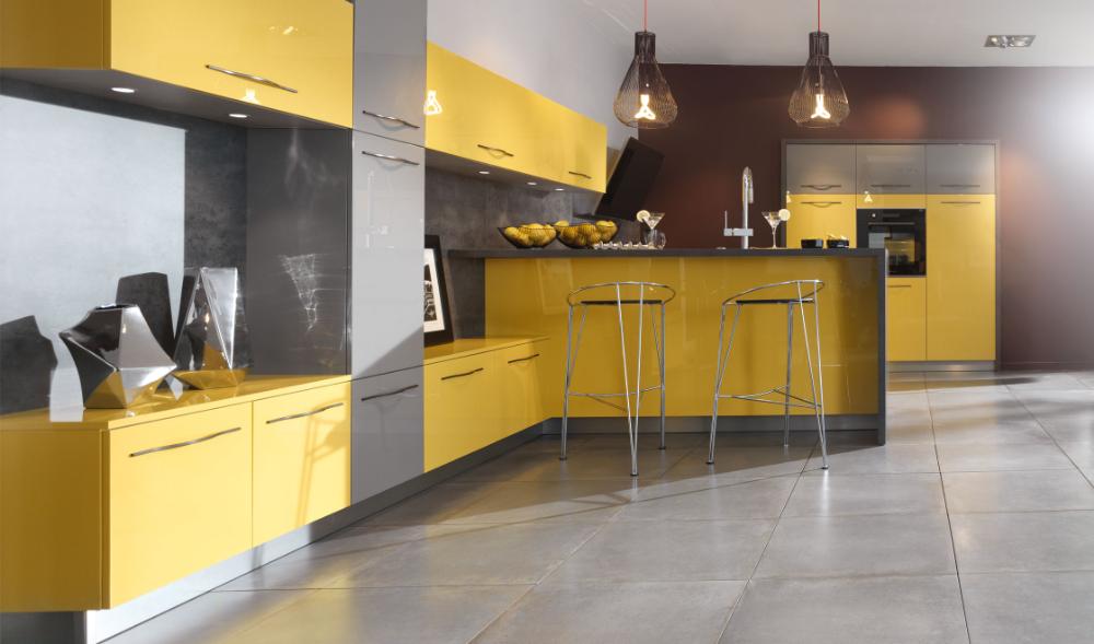 Nos Cuisines Design Moderne Bois Avec Ilot Cuisine Laquee