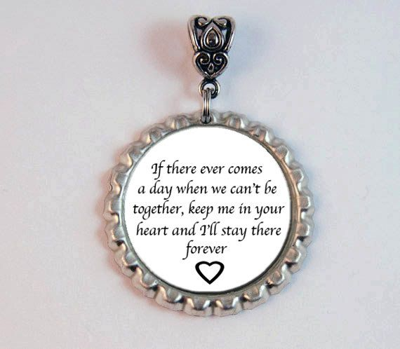 Wedding Flowers Quote: Memorial Bridal Bouquet Charm In Memory Quote By KCowie On
