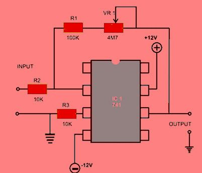 ic 741 op amp circuit diagram jpg 402 344 elektronik pinterest rh pinterest co uk lm741 pin diagram op 741 pin diagram
