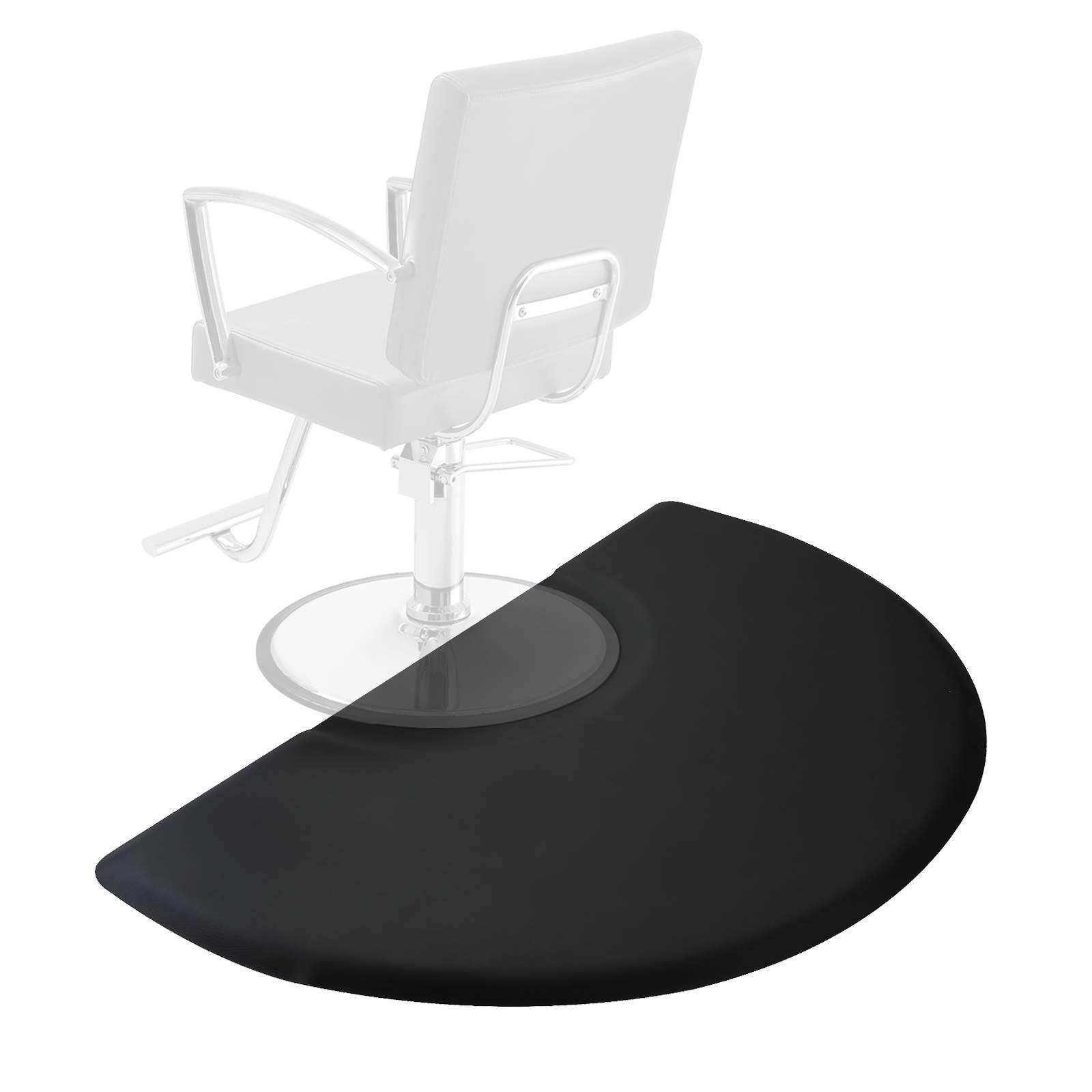 Saloniture 3 Ft X 5 Ft Salon And Barber Shop Chair Anti Fatigue Floor Mat Black Semi Circl Barber Shop Chairs Anti Fatigue Floor Mats Anti Fatigue Flooring