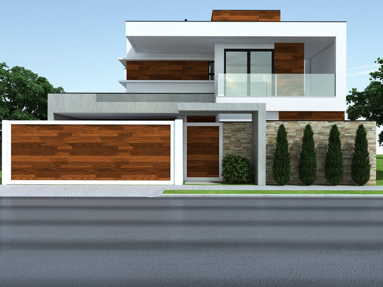 Proyectos costafizinus arquitetos fachadas pinterest for Materiais para fachadas de casas modernas