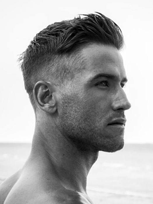 Fashionable Guys Short Hairstyle Thick Hair
