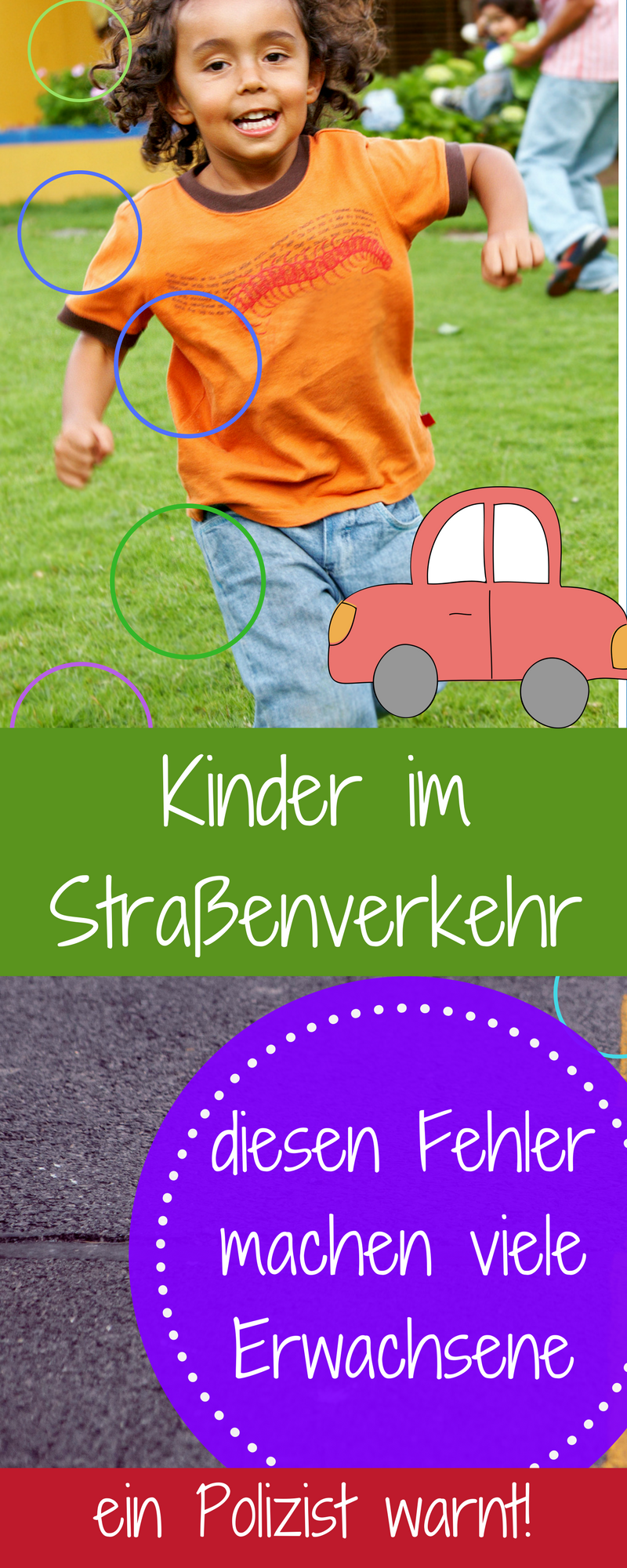 Kinder sicher im Straßenverkehr und ein Fehler vieler ...
