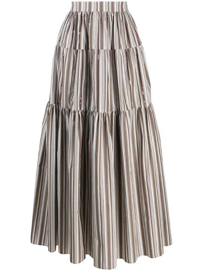 adbea45427 Brunello Cucinelli maxi peasant skirt in 2019 | Products | Peasant ...