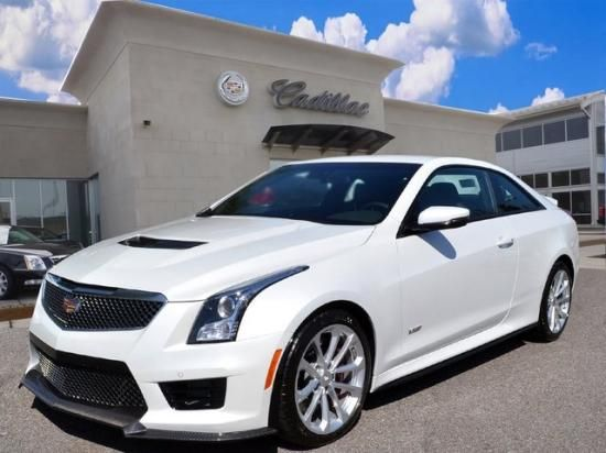 2016 Cadillac ATS V Coupe Crystal White 3 6L