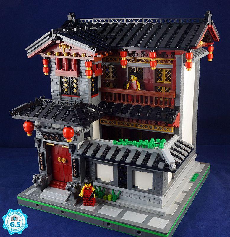 Lego Moc Chinese Style Qingyinge Lego Architecture Lego Ninjago Lego Ninjago City