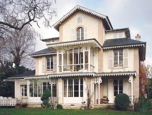 Maison d 39 inspiration victorienne croissy sur seine maisons de r ve pinterest victorien - Maison victorienne ...