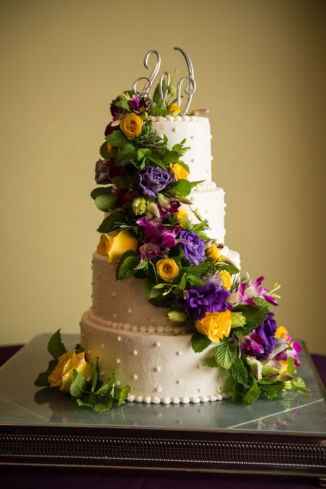 Wedding Cake with Floral Detail