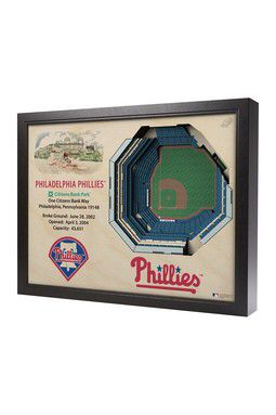 Philadelphia Phillies Citizens Bank Park 3D Wall Art 3d