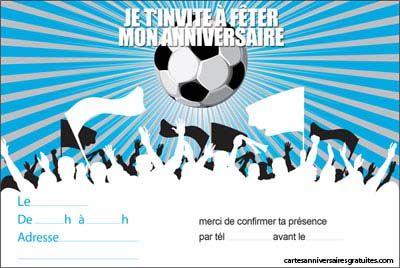 Carte invitation anniversaire gar§on