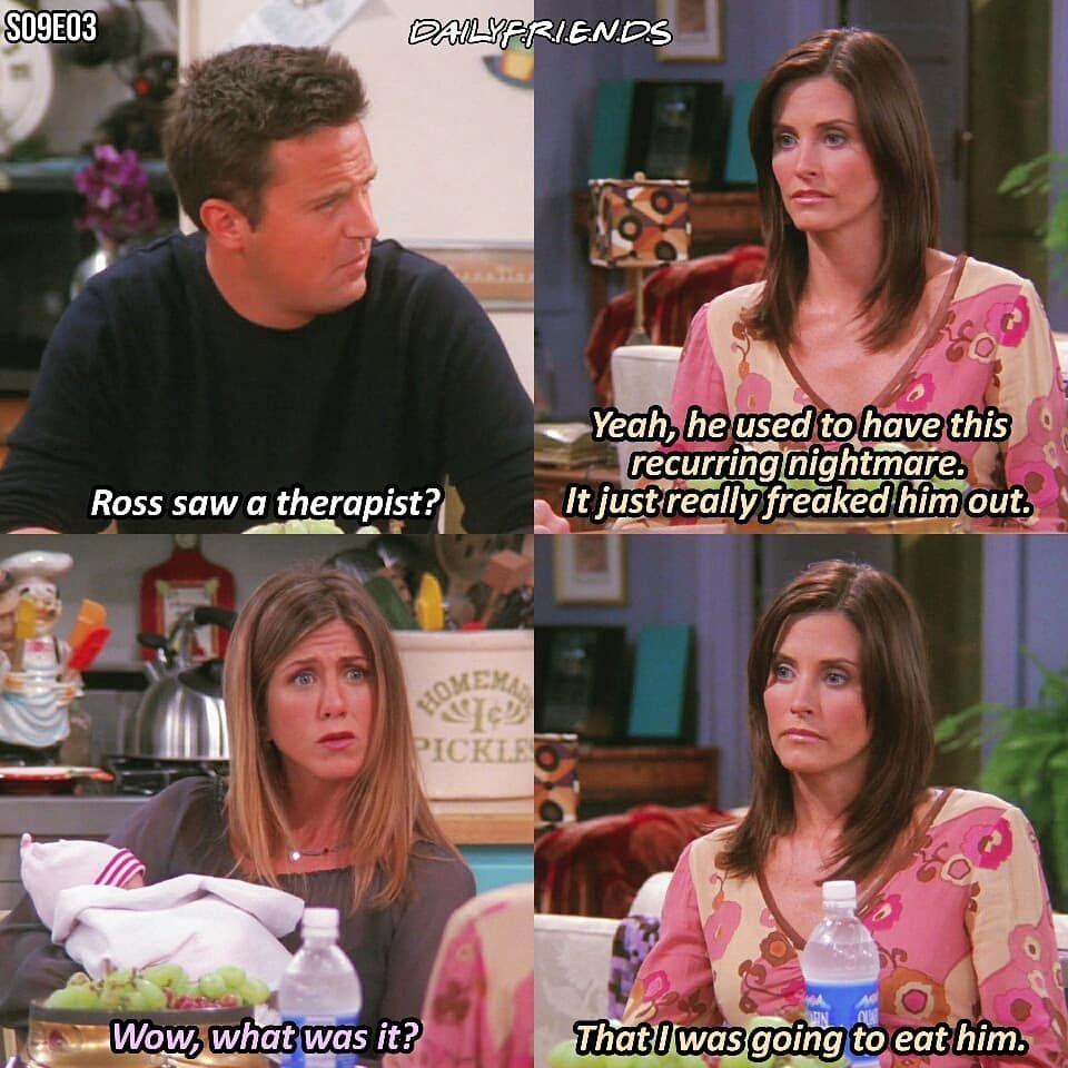 F R I E N D S Tv Show On Instagram Q Monica Or Rachel Friends Friendstvshow Be Friends Quotes Tv Show Friends Scenes Friends Funny Moments