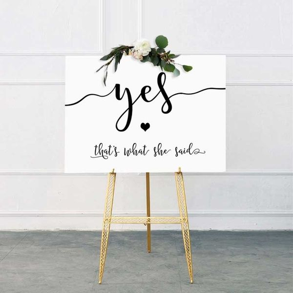 She Said Yes Sign Bachelorette Party Decorations Engagement Party Decorations Bridal Shower Decor Rustic Engagement Party Signs | Wish