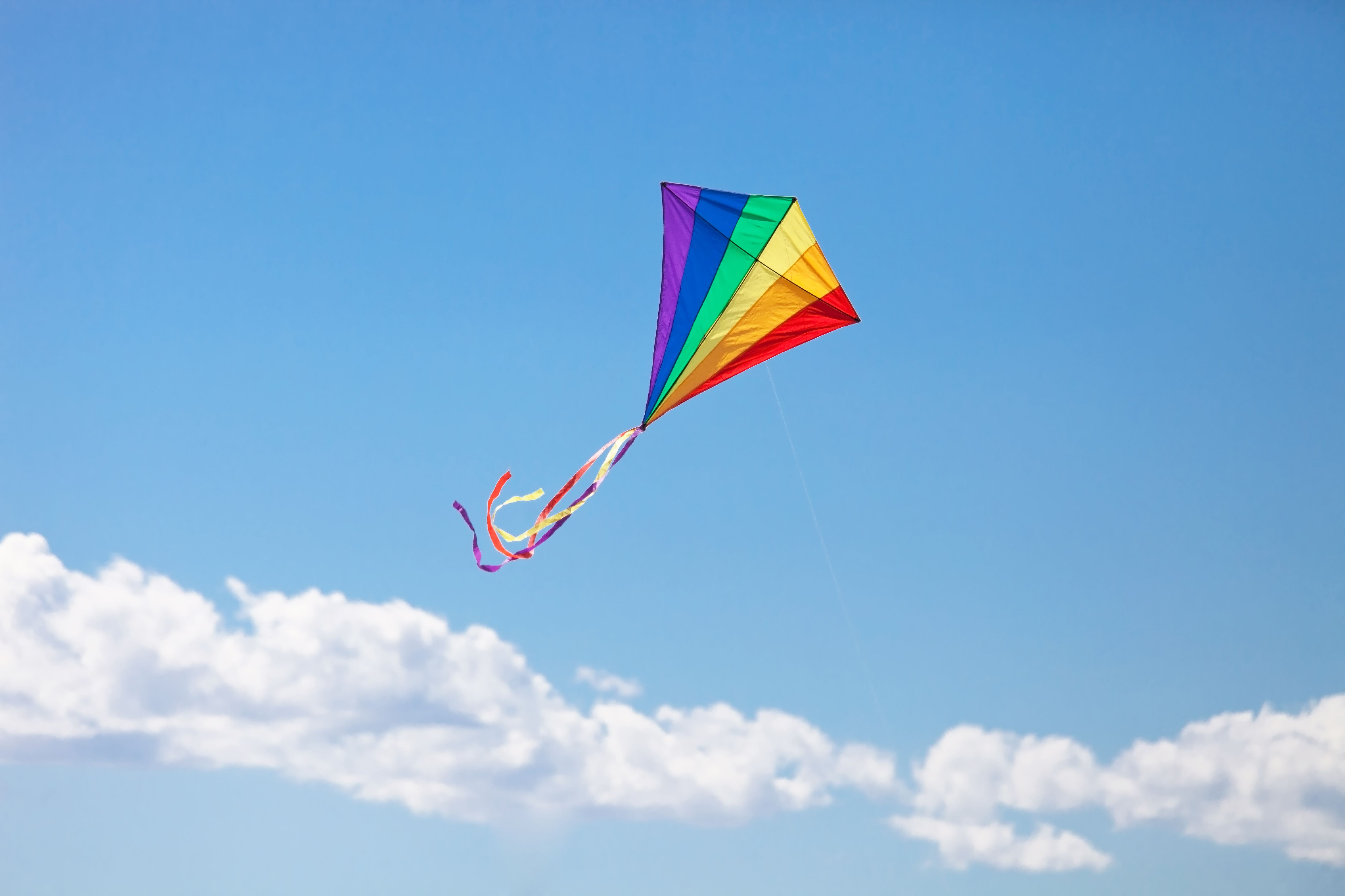 Kids Flying A Kite Facebook Covers
