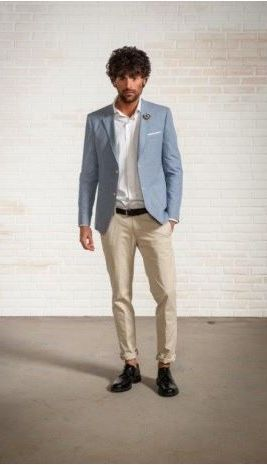 Unlined cotton and linen jacket with patches john barritt