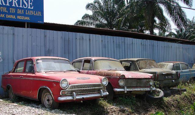 British Cars In Malaysian Scrapyard British Cars Cars