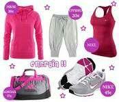 Outfit rosa para hacer ejercicio