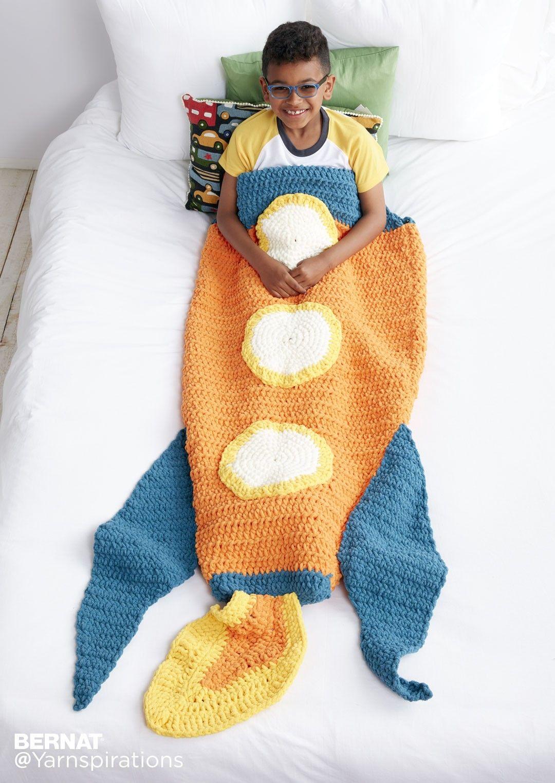 Blast Off Crochet Snuggle Sack - Patterns   Yarnspirations   AFGHANS ...