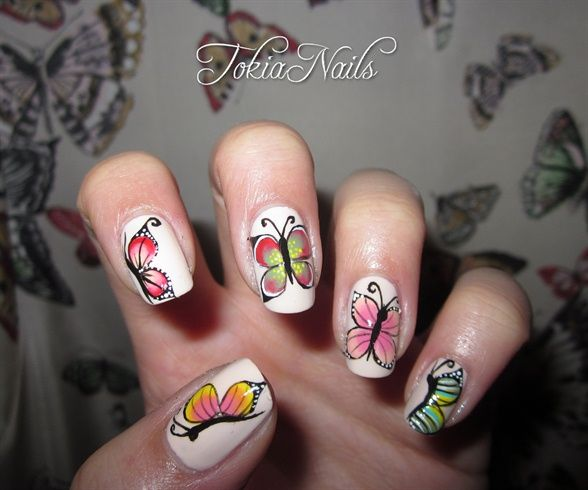 Butterflies By Tokianails From Nail Art Gallery Nail Art Animal