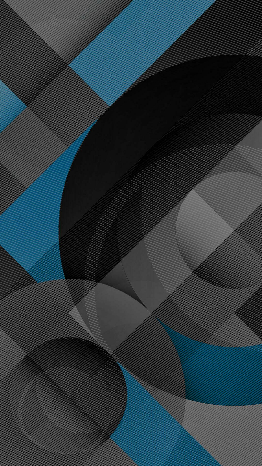 Blue Grey and Black Geometric Wallpaper