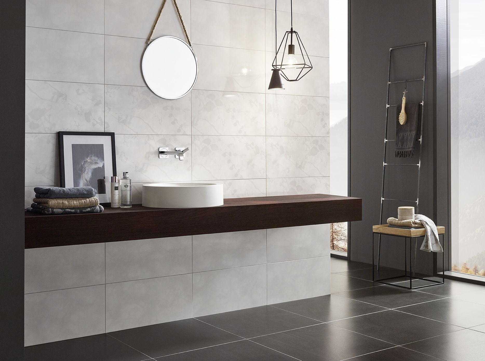 Elegantes badezimmerdesign geheimnisvolles naturell sowohnich badezimmer puristisch eleganz