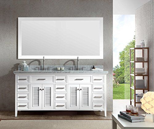 Pictures In Gallery Ariel Kensington DD WHT Solid Wood Double Sink Bat https
