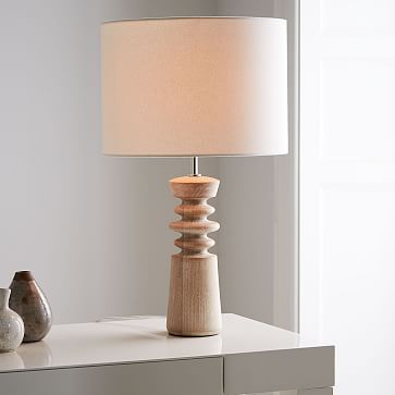 Turned Wood Table Lamp Medium Table Lamp Wood Table Lamps Living Room Table Lamp Design