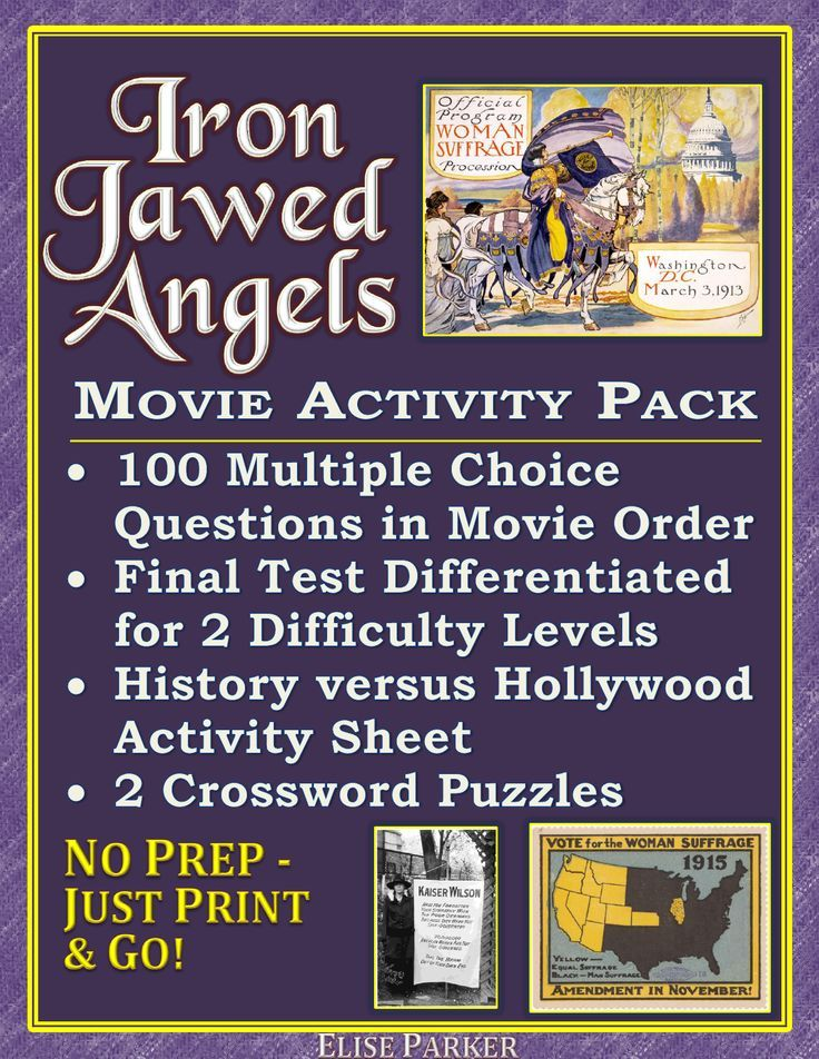 Iron Jawed Angels Worksheet and Activity Pack: Suffrage Film Worksheets