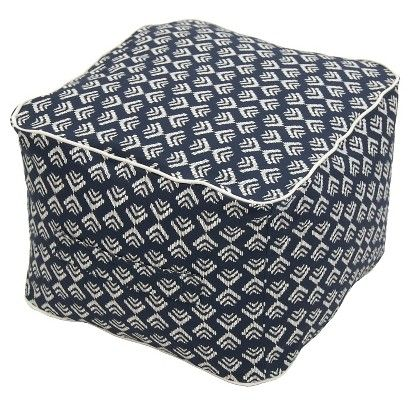 "thresholda""¢ outdoor fabric pouf navy for the home target"