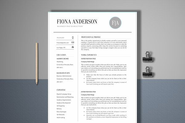 Resume Template 4 Page Management CV Templates Pinterest