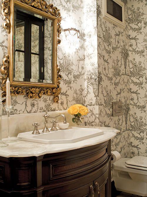 black and white toile bathroom toile white bathroom decor white rh pinterest com