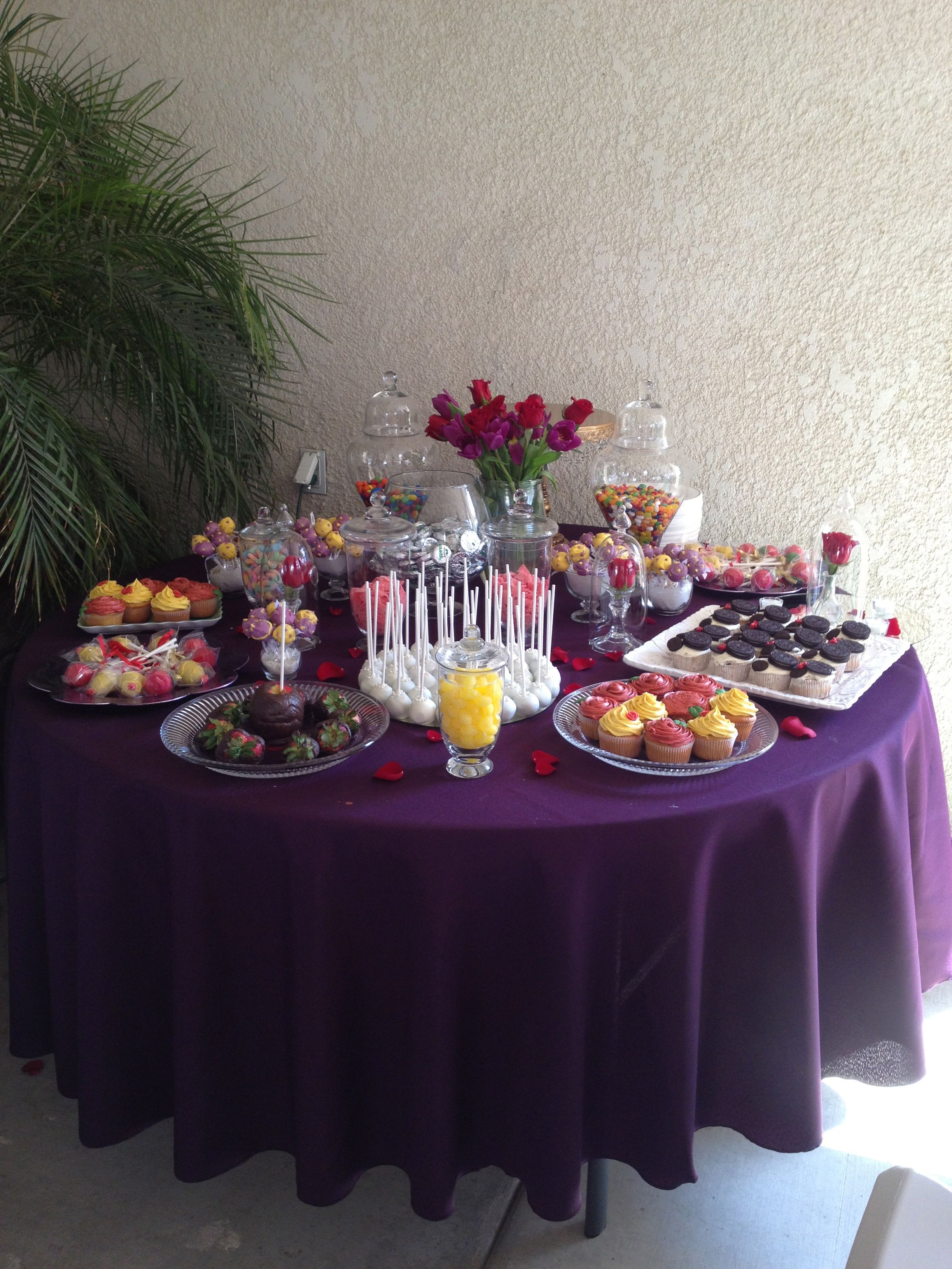 Beauty and The Beast bridal shower candy bar | Wedding ...