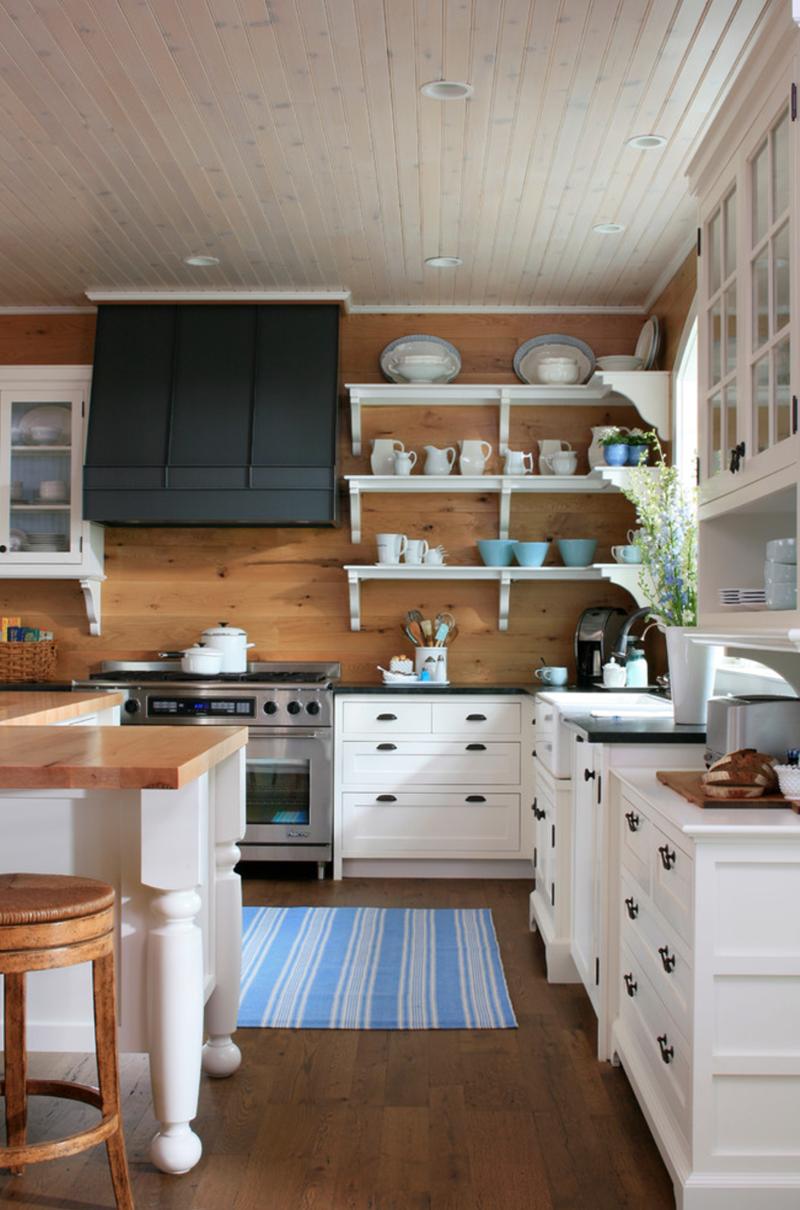 Rv Wood Planked Kitchen Backsplash Cottage Kitchens Kitchen